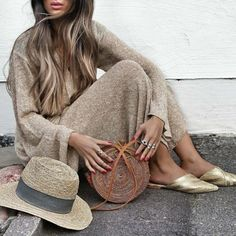Knitted Two Piece & Gold Sliders Brown Eyed Girls, Street Style, Everyday Fashion, Spring Summer Fashion, Fall Outfits, What To Wear, Ideias Fashion, Instagram, Asos