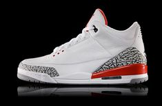 bdd1ee06ebf7a7 Air Jordan 3 Katrina White Cement Grey Black Fire Red 136064 116 Basketball  Shoe For Sale Big Boys Youth Jeunesse Shoes