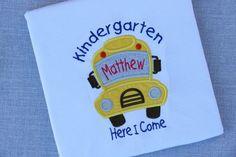 Back To School Shirt, Kindergarden Shirt, Kids Back To Shool Shirt, School Shirt, Back To School, Kindergarden, School Bus, Yello School Bus by moosebutton on Etsy
