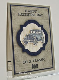 Stampin' Up! - Guy Greetings - Classic Car .... Teri Pocock - http://teriscraftspot.blogspot.co.uk/2015/03/guy-greetings-classic-car.html