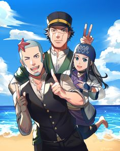 Golden Kamuy. Chiba, Bear Attack, Meiji Era, Fanarts Anime, Old Cartoons, Anime Life, Masked Man, Anime Art, Geek Stuff