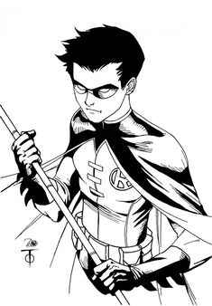 Robin Sketch by Marcus To by ~NewEraStudios (Love Marcus To, really nice guy!)