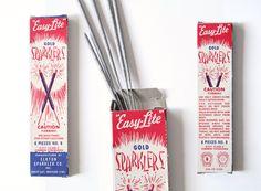 Vintage Sparklers - Vintage Firework Packaging. $20.00, via Etsy.