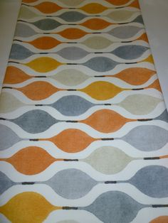 Orange Table Runner Gray Funky Modern Cotton (54 137cm)  This Table Runner is 100% Cotton.  137cm x 35cm wide (54 x 14 approx)  PRODUCT NAME: Verve/ Juice  Its backed with Cream cotton and is machine washable @ 40deg. Hot steam iron.  These up- to- the minute designs are funky and retro using designer fabrics from Prestigious Textiles UK. Totally the way to dress your table.  All my items have matching Cushion Covers 16 (40cm) and 22 (56cm) Wall Art, Bed Runners and Placemats will all be...