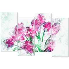 Design Art ' Tulips' Canvas Art