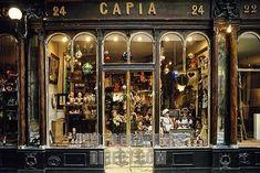 Storefront of an old doll shop , Galerie Véro Dodat , Paris , France , Europe