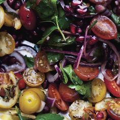 Wave goodbye to the Waldorf. Tell the chopped salad it's getting cut. This Tomato and Roasted Lemon Salad leaves those boring alternatives in the dust. Healthy Eating Recipes, Vegetarian Recipes, Cooking Recipes, Healthy Food, Healthy Salads, Vegan Food, Salad Bar, Soup And Salad, Side Salad