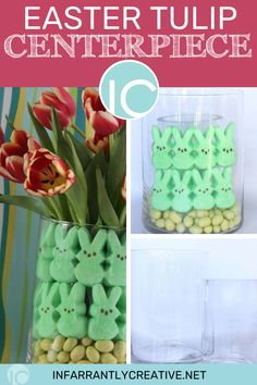 Easy DIY Easter craft or for would also make a great gift for Mother's Day. This centerpiece is quick, easy, and reusuable. Easy Diy Crafts, Diy Craft Projects, Fun Crafts, Crafts For Kids, Easter Crafts, Holiday Crafts, Christmas Diy, Easter Ideas, Knock Off Decor