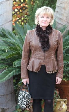 Styling a Leather jacket in Midlife