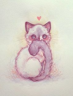 kawaii cat illustration