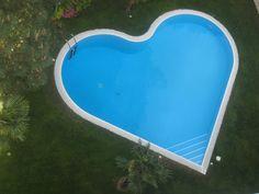 heart shaped swimming pool
