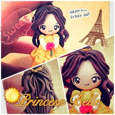 """Clay Tutorial: Princess Belle from """"Beauty and the Beast"""""""