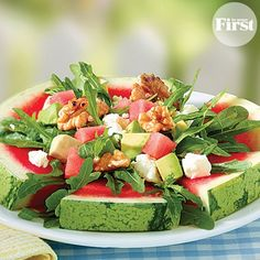 Watermelon Avocado Salad