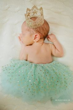 Mint Green & Gold Dot Tutu