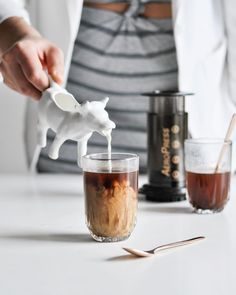 NEW Cow Milk Pitcher the Perfect way to top up your AeroPress coffee! Shop Cow Pitcher Link in Bio Same Day Dispatch Coffee Date, Coffee Break, My Coffee, Coffee Shop, Coffee Cups, Sweet Coffee, Coffee Artwork, Aeropress Coffee, Coffee Photos
