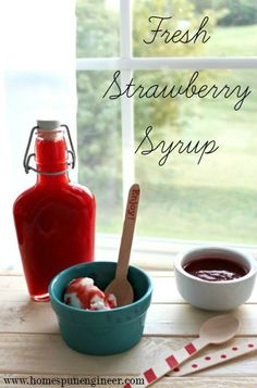 Strawberry Syrup: Fr