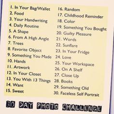 September's Instagram Photo Challenge