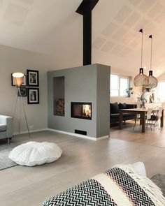 Love this 🔥 Cre - Raumteiler ideen- Love this Cre Love this Cre The post Love this Cre appeared first on Raumteiler ideen. Love this Cre Love this Cre The post Love this Cre appeared first on Raumteiler ideen. Living Room With Fireplace, Home Living Room, Living Room Decor, Fireplace Kitchen, Inspire Me Home Decor, Modern Interior, Modern Decor, Interior Design, Modern Design