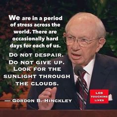 Another perfect one from Gordon B Hinckley! ❤️ #genconflove