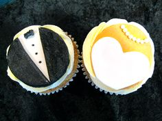 Bride and Groom Cupcakes a variety of flavours, chocolate, vanilla, red velvet, and more. Beautiful Wedding Cakes, Red Velvet, Vanilla, Groom, Cupcakes, Bride, Chocolate, Wedding Bride, Cupcake Cakes