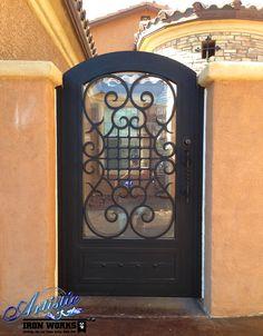 Wrought Iron Courtyard Entry Gate