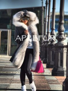 APRB furs fox lined parka