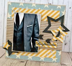 Kristine's lille papirverden: DT Scrappelyst Masculine Cards, Young People, Scrapbook Cards, Homemade Cards, Cardmaking, Paper Crafts, Men, Inspiration, Inspired