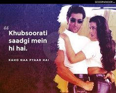 41 Profound Bollywood Dialogues That Are Basically Every Millennial's Cheat Sheet To Life Best Lyrics Quotes, Film Quotes, The Kite Runner Quotes, Kaho Naa Pyaar Hai, Bollywood Quotes, Film D, Zindagi Quotes, Hrithik Roshan, Some Words
