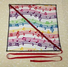 Clarinet music fabric Pullthrough Swab by jansmusicplace on Etsy, $10.50