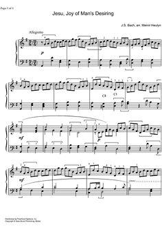 Jesu, Joy of Man's Desiring BWV 147 - Harp Sheet Music Preview Page 1