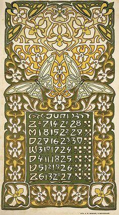 Leo Visser calendar, 1903