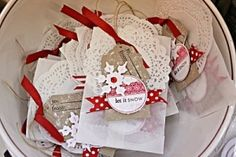 Pretty glassine bags with goodies inside Christmas Bags, Christmas Gift Wrapping, Christmas Love, All Things Christmas, Christmas Holidays, Christmas Crafts, Christmas Scrapbook, Christmas Ideas, Xmas