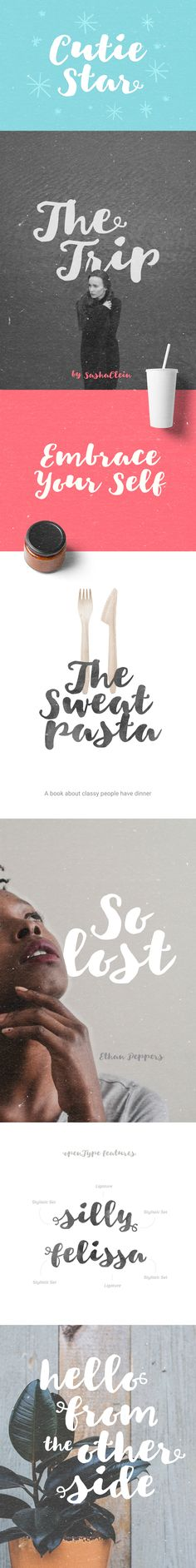 Cutie Star Free Font is a modern brush script typeface with irregular baseline and natural hand written shapes. Drawn with regular brush pen and optimized to look like hand lettered brush.This free font could be great for wedding invitation, greeting ca… Script Typeface, Handwritten Fonts, Wedding Card Quotes, Wedding Cards, Truetype Fonts, Alphabet, Free Fonts Download, Font Free, Free Downloads