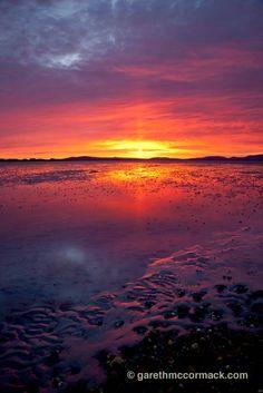 Dawn over Elly Bay, Belmullet Peninsula, Co Mayo, Ireland. Stock Photo