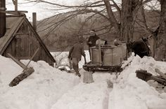 Would go out and gather the sap with my grandfather.  We always took fresh eggs to the sap house and boiled them in the sap.  Great memories.