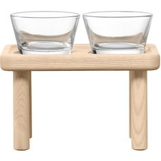 LSA International Stilt Condiment Set & Ash Stand ($32) ❤ liked on Polyvore featuring home, kitchen & dining, serveware, lsa international, condiment serving set and serving stand