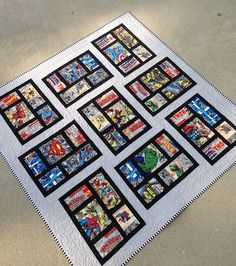 Comic book quilt by bvselby, via Flickr