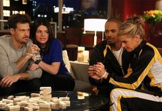 """Game Night at Brad and Jane's gets a bit too competitive on Happy Endings. """"She's Got Game Night"""" is the episode of the show's third. She Got Game, Couples Game Night, Field Day, Couple Games, Donkey Kong, Tv Guide, Dancing With The Stars, Happy Endings, Athletic Outfits"""