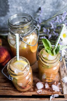 Grilled Peach and Basil Arnold Palmer…with or without Bourbon ...