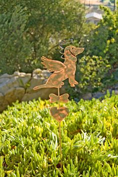 Dachshund Metal Garden Art Pet Memorial Copper Garden Stake, Pet Grave Marker, Metal Yard Art, Outdoor Metal Art,  Copper Garden Sculpture by GardenCopperArt on Etsy