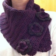 crocheted scarves with buttons - Yahoo Search Results