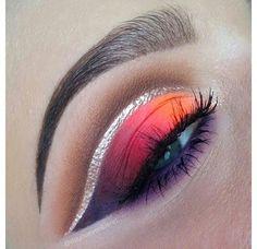 colorful eye look