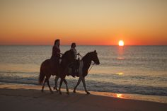 Horseback riding along the beach #MYRDreamVacation