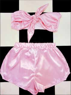 Just a girly two piece set for babygirl ~*~*~101% silky soft and smooth ~*~*~   Satin blend Elastic waist band (This set is sold together)