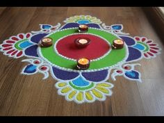Here is a simple freehand diwali special flower rangoli design for Diwali. It is based on one of my original rangoli designs and I have tried to do some inno. Easy Rangoli Designs Diwali, Simple Rangoli Designs Images, Rangoli Designs Flower, Free Hand Rangoli Design, Small Rangoli Design, Rangoli Border Designs, Rangoli Ideas, Diwali Diy, Colorful Rangoli Designs