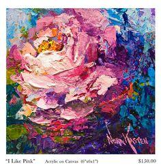 NORA KASTEN Fine Art / Painting Artist: Nora Kasten Artist Acrylic Painting I Like Pink