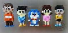 Personajes de Doraemon con Hama Beads Hama Beads - Doraemon characters