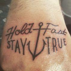 Hold Fast ⚓️ Stay True  Hand Tattoo  Anchor Tattoo