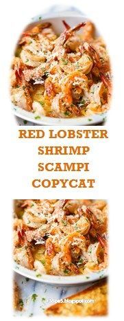 Recipes shrimp scampi 70 Ideas for 2019 Red Lobster Shrimp Scampi Recipe, Shrimp And Lobster, Lobster Recipes, Cajun Recipes, Easy Chicken Recipes, Shrimp Recipes, Cooking Recipes, Cooking Blogs, Pasta Recipes