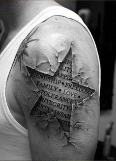 Оригинальные примеры татуировок на плече и предплечье